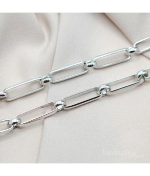 Крупная цепь Extra(E21541-BB), 50см(родиевое покрытие)
