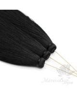"""Шёлковая кисть """"BLACK"""" с пином(позолота 16 карат)"""