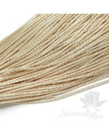 "Canutillo texturizado 1mm ""Bambú"" para bordado, gold"