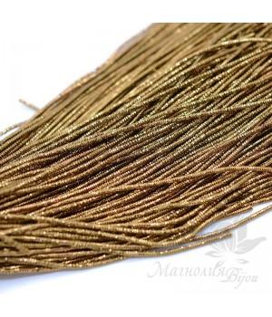 Канитель трунцал 1мм, golden brown