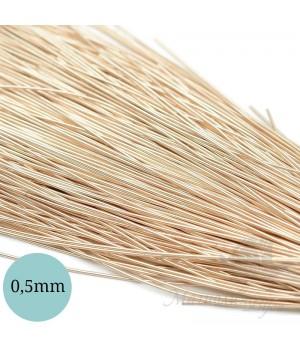 Канитель гладкая мягкая 0,5мм, ванильный крем