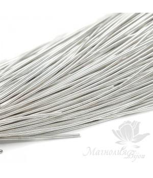 Канитель гладкая мягкая 1мм, серебро