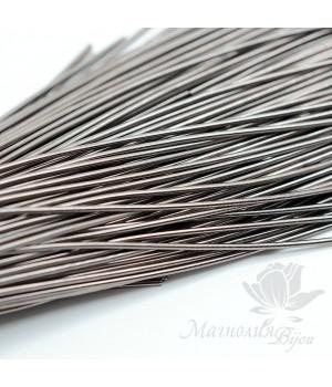 Канитель гладкая мягкая 1мм, античное серебро