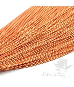 Канитель гладкая мягкая 1мм, оранжевый