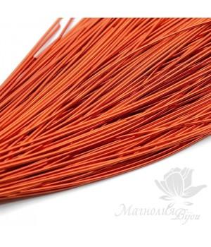 Канитель гладкая мягкая 1мм, темно-оранжевый