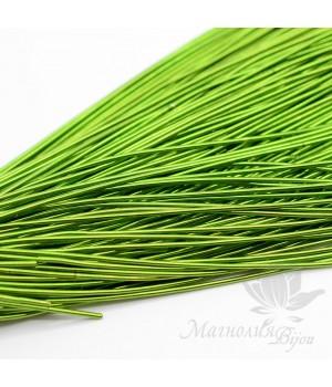 Канитель гладкая мягкая 1мм, светло-зеленый