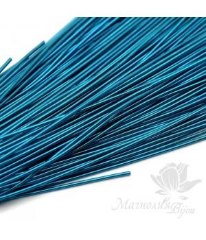 Канитель гладкая мягкая 1мм, морской синий