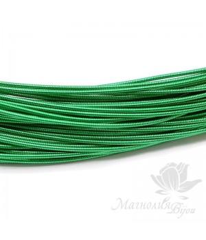 Жёсткая канитель 1мм зеленый, 5 грамм