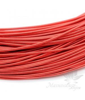 Жёсткая канитель 1мм красный, 5 грамм