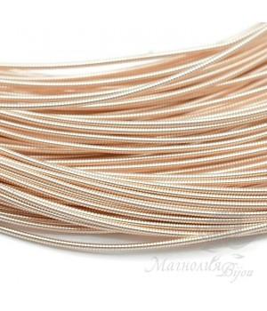 Жёсткая канитель 1мм розовое золото, 5 грамм