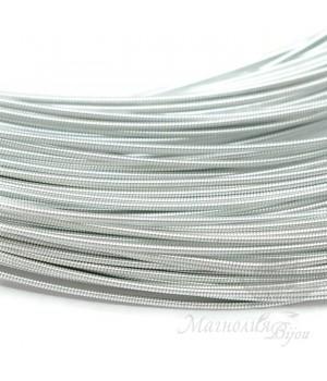 Жёсткая канитель 1мм серебро, 5 грамм