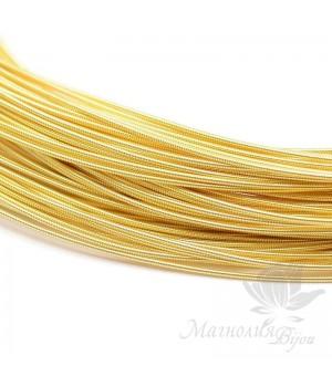 Жёсткая канитель 1мм жёлтое золото, 5 грамм