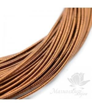Жёсткая канитель 1.25мм коричневый, 5 грамм