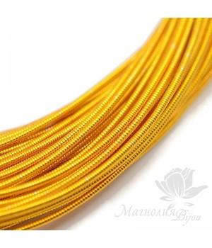 Жёсткая канитель 1.25мм тёмное золото, 5 грамм