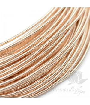 Жёсткая канитель 1.25мм розовое золото, 5 грамм