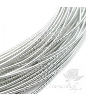 Жёсткая канитель 1.25мм серебро, 5 грамм