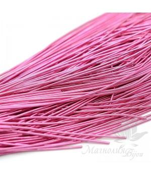 Канитель гладкая мягкая 1мм, розовый