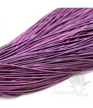 Канитель гладкая мягкая 1мм, фиолетовый