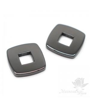 Керамический элемент Квадрат 15мм, цвет черный
