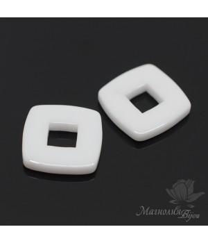 Керамический элемент Квадрат 15мм, цвет белый