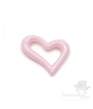 Керамика Сердце Асимметрия 19:15мм, цвет розовый