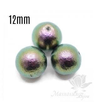 Хлопковый жемчуг 12мм, rich green black