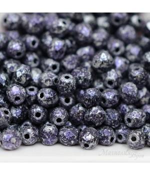 Чешские граненые бусины Tweedy Violet 4мм, 20 штук