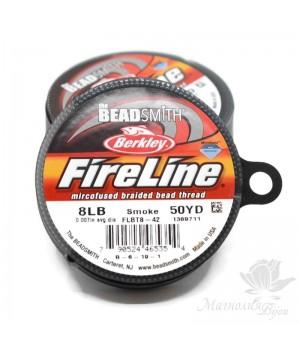 Smoke Grey Fireline 8lb 0.007'', катушка 50 ярдов