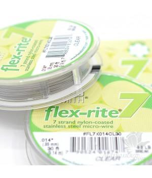 """Тросик ювелирный """"Flex-Rite 7"""" прозрачный 0.35мм, 9.14 метра"""