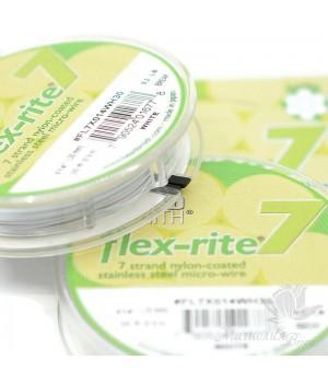 """Тросик ювелирный """"Flex-Rite 7"""" 0.35мм белый, 9.14 метра"""