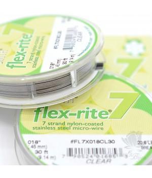 """Тросик ювелирный """"Flex-Rite 7"""" прозрачный 0.45мм, 9.14 метра"""