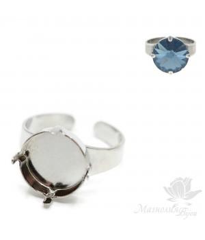 Основа для кольца для риволи 14мм(5001251), родиевое покрытие