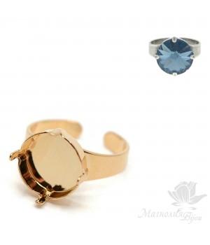 Основа для кольца для риволи 14мм(5001251), позолота