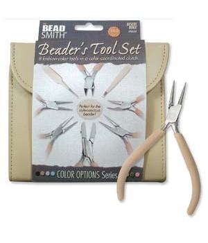 Набор из 8-ми инструментов для бижутерии в пенале BeadSmith, цвет Desert Beige
