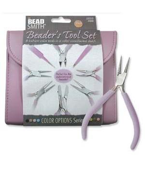 Набор из 8-ми инструментов для бижутерии в пенале BeadSmith, цвет Orchid