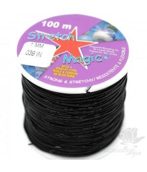 Эластичная нить(резинка) Stretch Magic черная, 1 метр