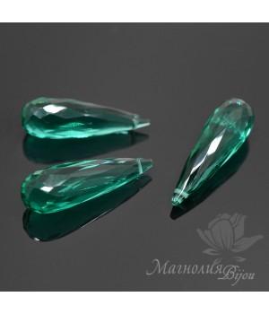 Зеленый кварц(Green Quartz) 25:8мм, 1 штука