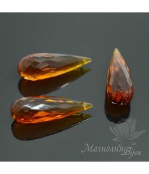 Медовый кварц(Honey Quartz) 25:8мм, 1 штука