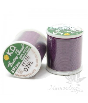 Нить для бисера K.O. катушка 50м, фиолетовая