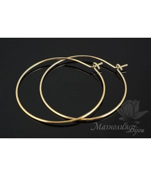 Швензы-кольца Circle, позолота 16 карат