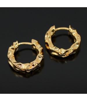Швензы-кольца 25мм с застежкой, позолота 16 карат