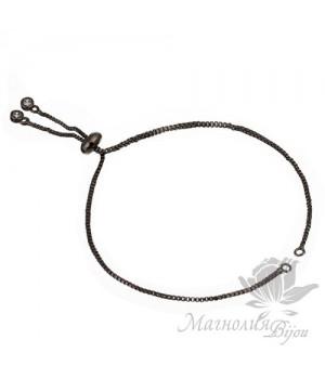 Основа-цепочка для браслета, цвет чёрный