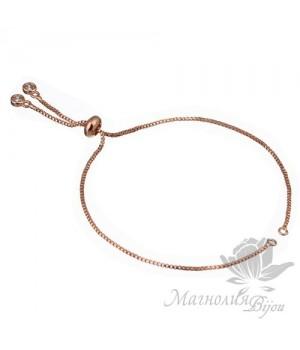 Основа-цепочка для браслета, розовое золото