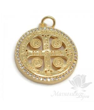 Подвеска Мальтийский крест, позолота