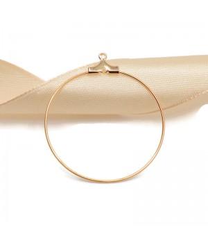 Основа для серег 36мм(кольцо разъемное), позолота