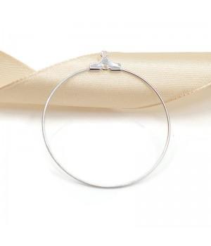 Основа для серег 36мм(кольцо разъемное), цвет платина