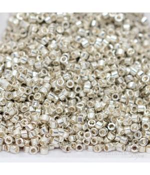 Бисер Delica DB0035 Galvanized Silver, 5 грамм