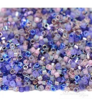 Бисер Delica цилиндрический Mix01 Lilacs, 5 грамм