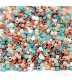 Бисер Delica Mix9082 Coral Desert, 5 грамм