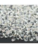 Бисер Miyuki Drops 01 S/L Crystal, 10 грамм